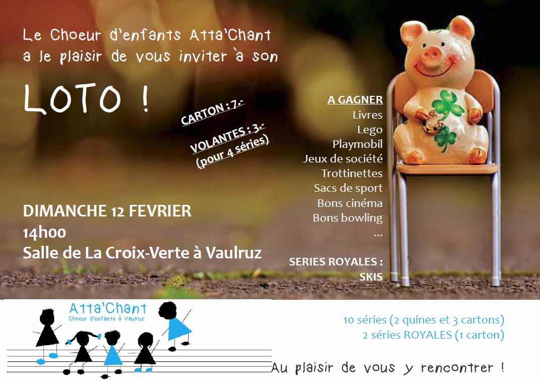 Flyer loto chorale